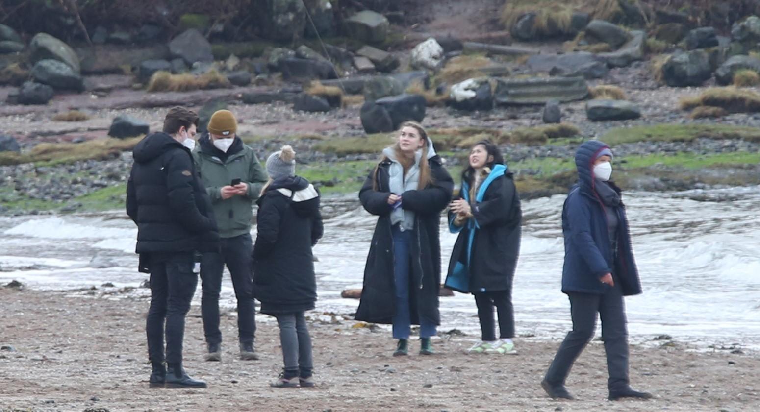 Filming Anika Lunderston Bay.