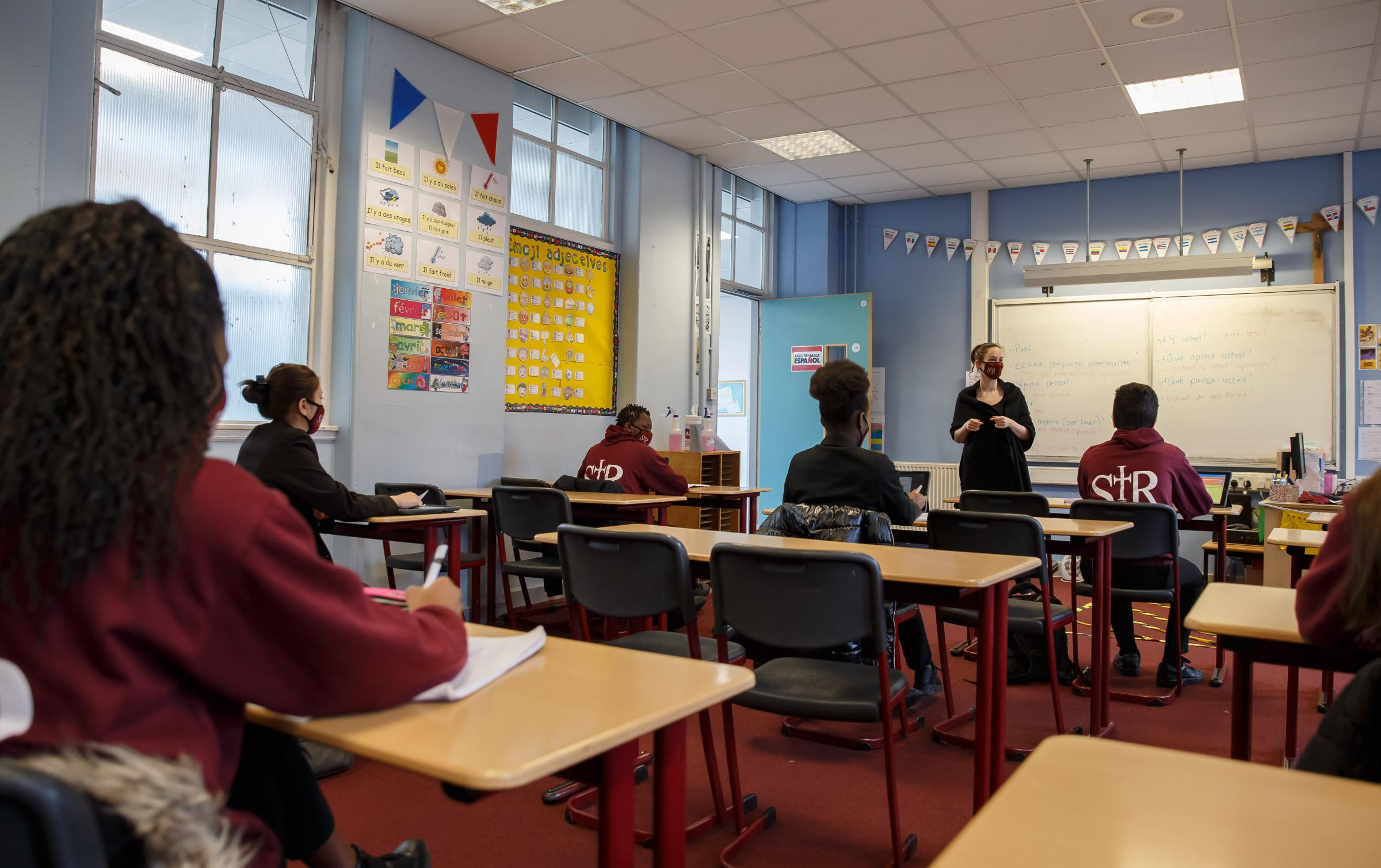 Languages principal teacher Valerie Pellarin teaching S4, S5 and S6 pupils Picture: Colin Mearns