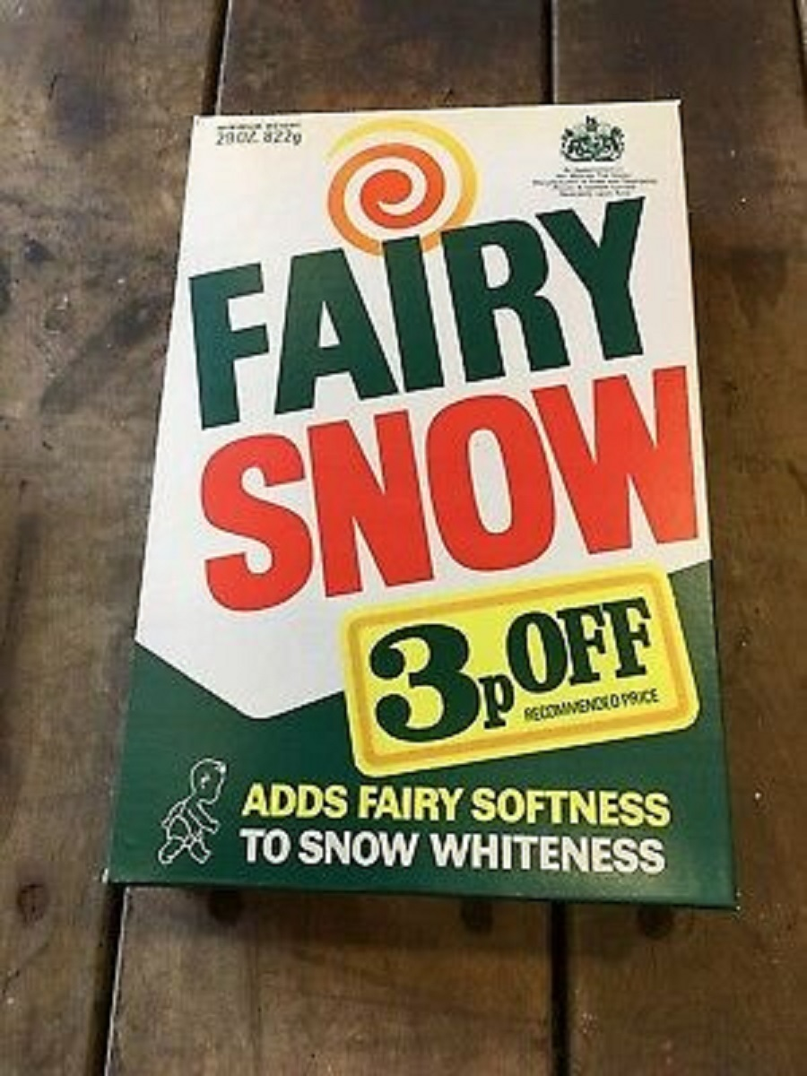 Fairy Snow washing powder was popular in the 50s