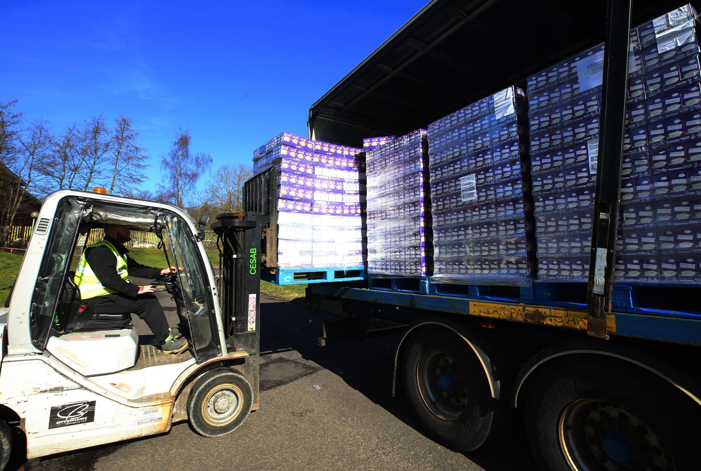 Some of the more than 40,000 Easter eggs to be delivered to schools across the city Picture: Gordon Terris