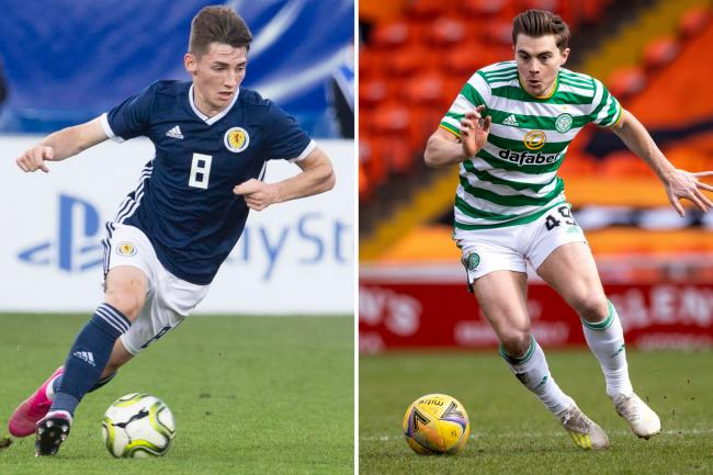 Billy Gilmour, left, and James Forrest.