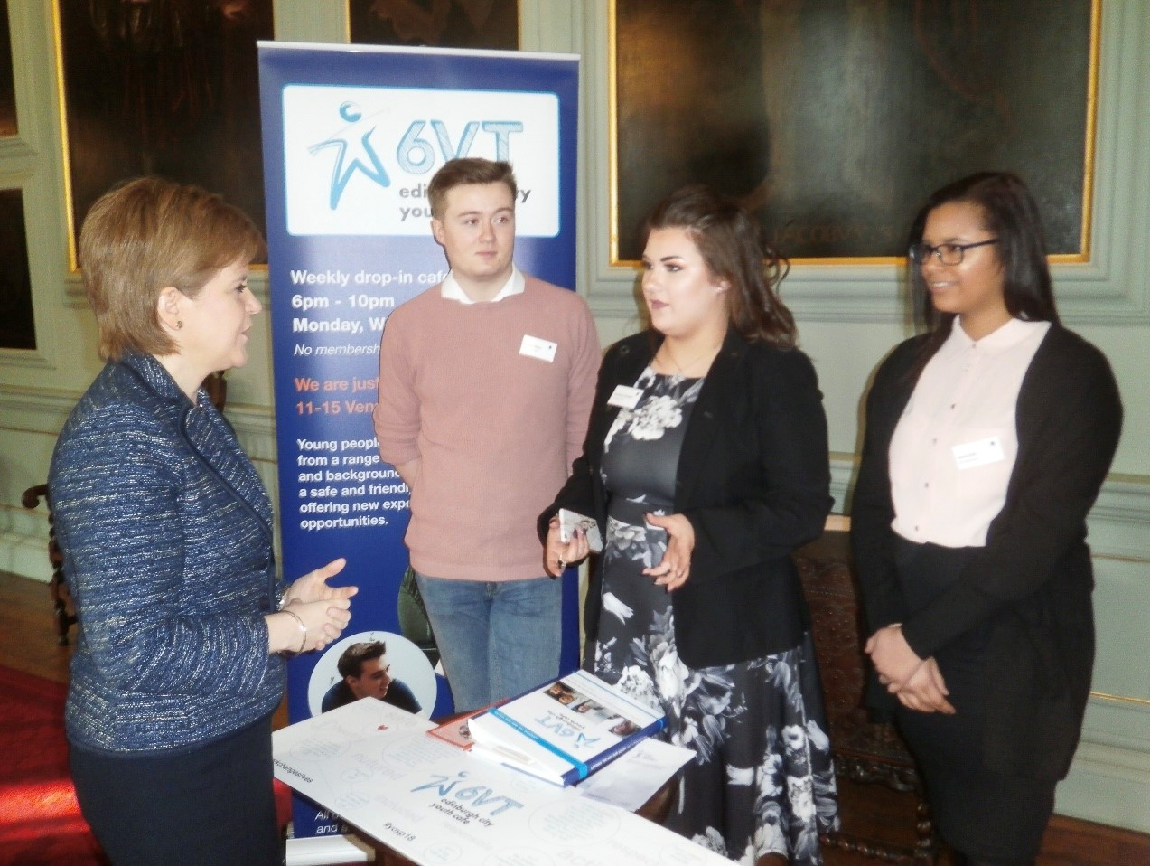Rosie and fellow volunteers meet First Minister Nicola Sturgeon.