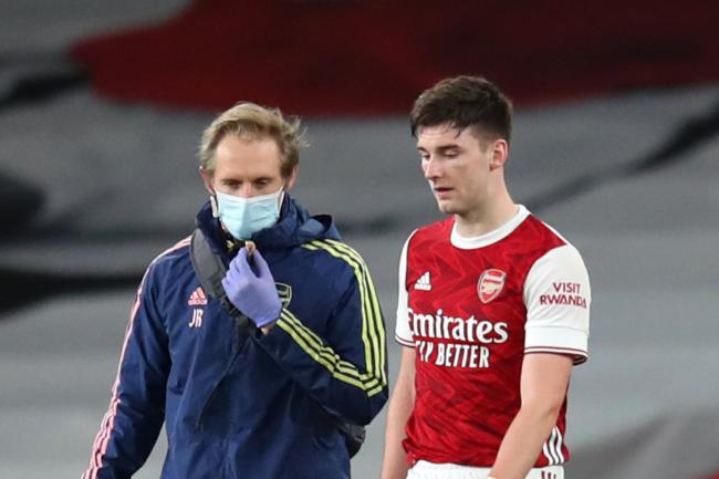 Kieran Tierney injury update as Arsenal confirm ligament damage and expected recovery time