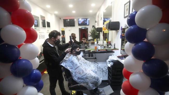 Barber opens at 6am amid rush for haircuts as Scotland's lockdown eases