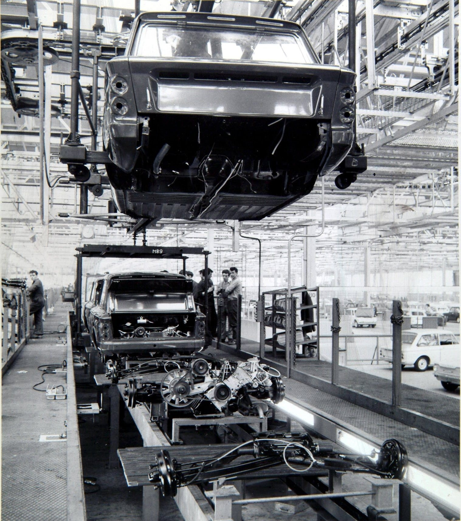 Inside the Rootes factory where Hillman Imps and Minxes were made. Pic Herald and Times