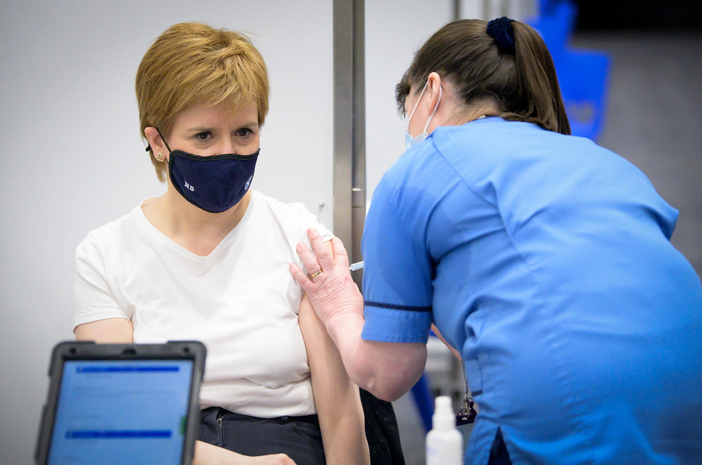 """Nicola Sturgeon """"emotional"""" after receiving first vaccine dose"""