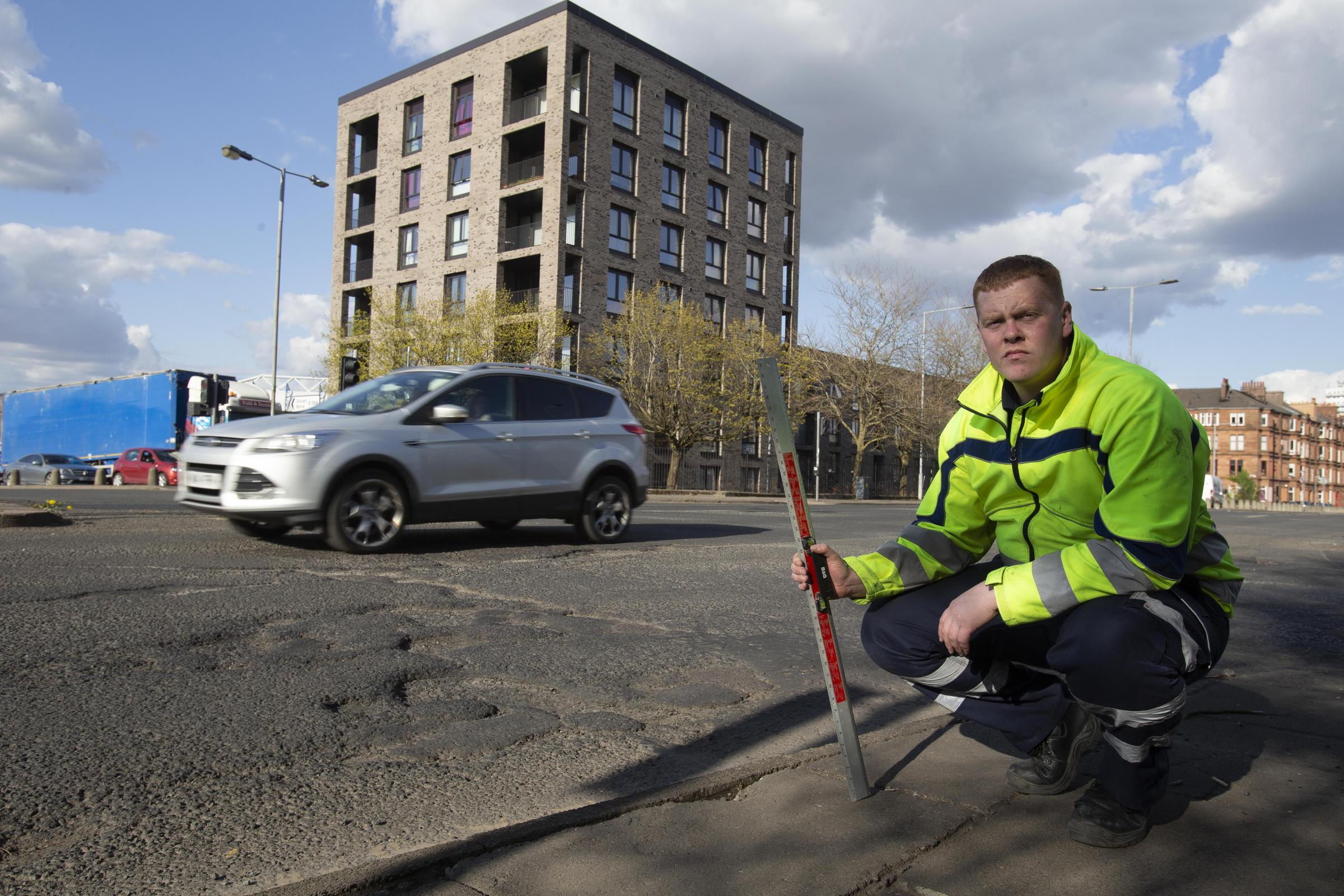 Meet the Glasgow man on a quest to conquer pothole menace in the city and beyond