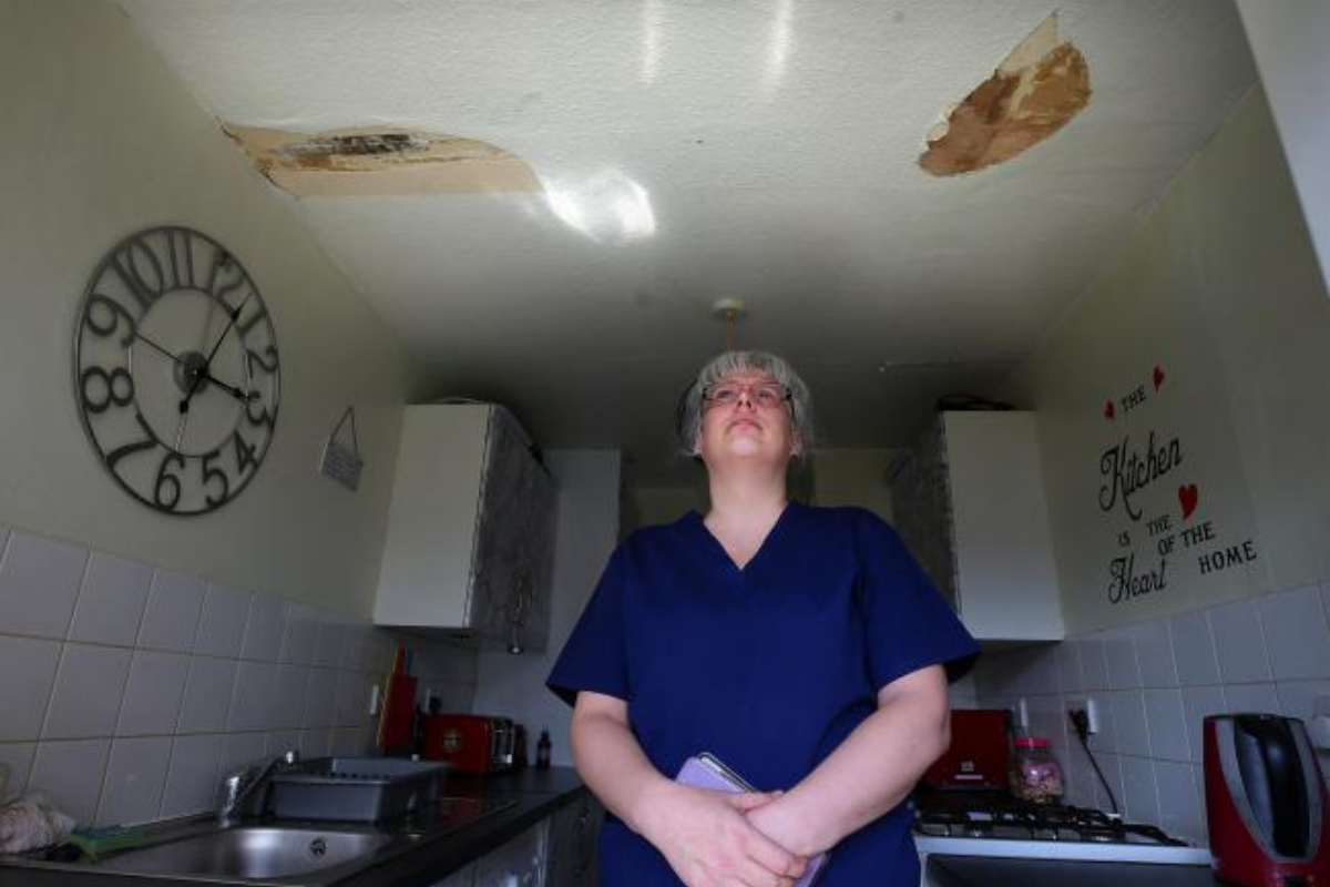 'I don't know where else to turn': Year of flooding in mum's flat leaves family ill and desperate for help