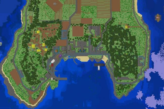 The Isle of Cumbrae has been recreated in Minecraft
