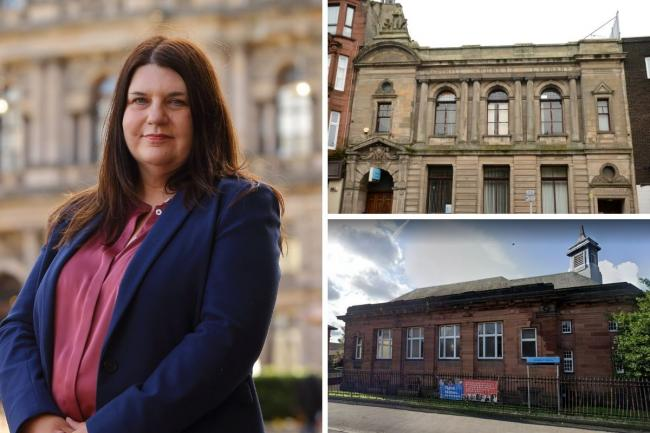 Susan Aitken argues it is wrong to say libraries will close in Maryhill, top, and Whiteinch, bottom, despite plans to shut the buildings