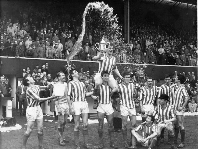 Rangers players celebrate after their Scottish Cup win in 1964. Pic: Herald and Times.
