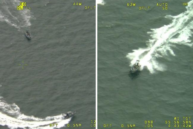 Man told off by cops after dramatic River Clyde boat chase with helicopter