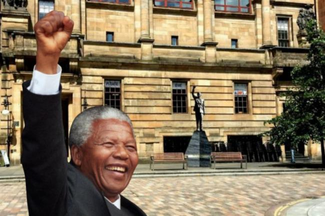A visualisation of a Nelson Mandela statue in Glasgow, submitted to the council with plans for a memorial to the former South African president