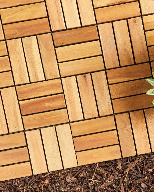 Glasgow Times: Two Direction Wooden Decking Tiles. (Aldi)