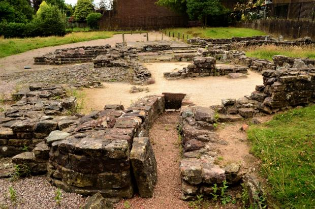 Glasgow Times: The ancient Roman baths complex at Bearsden, which formed part of the Antonine Wall
