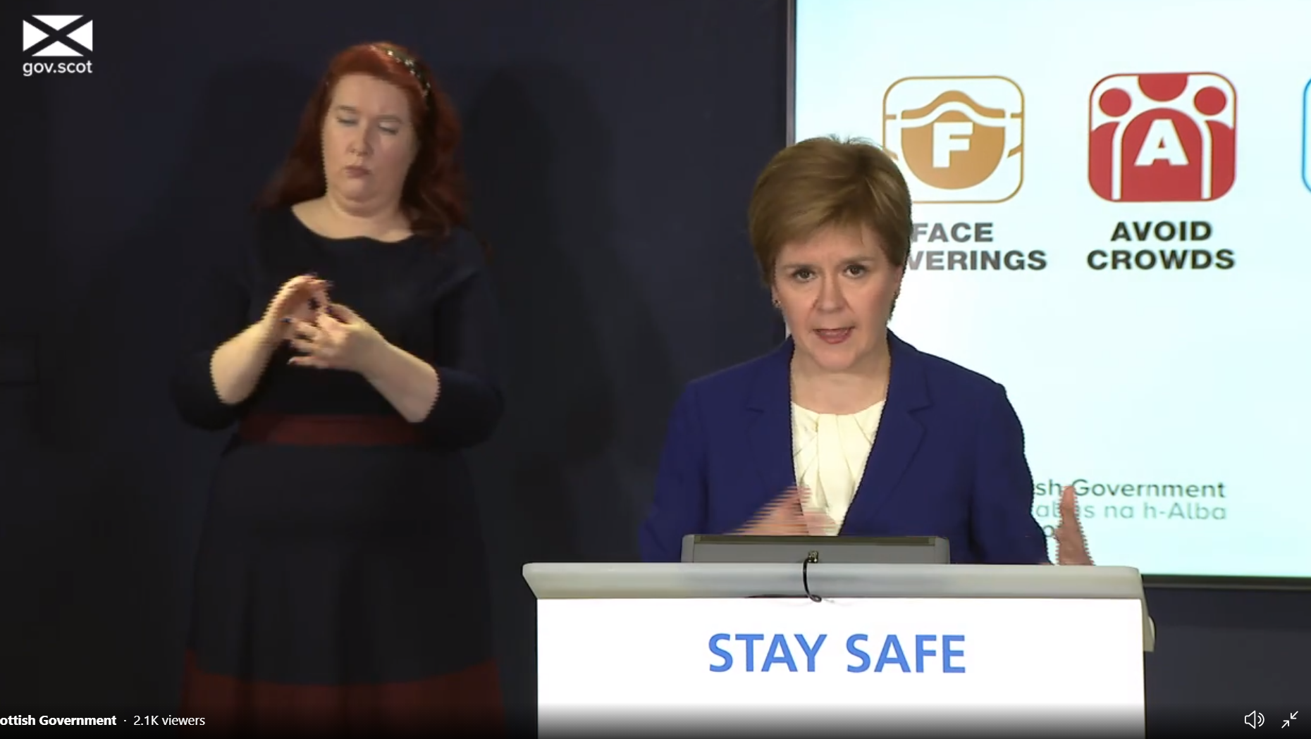 Covid-19:Nicola Sturgeon announces more lockdown lifting from Monday
