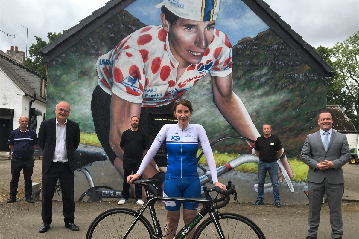 Philippa York: Cycling legend commemorated with mural
