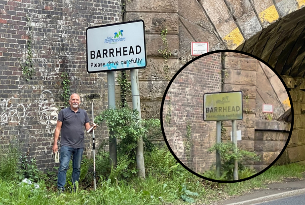 Barrhead man takes matters into his own hands