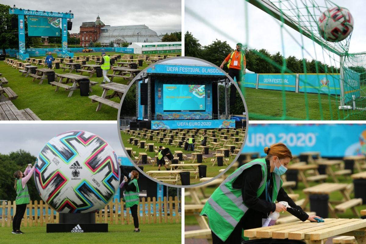 Glasgow Green fan zone begins to take shape ahead of Euro 2020