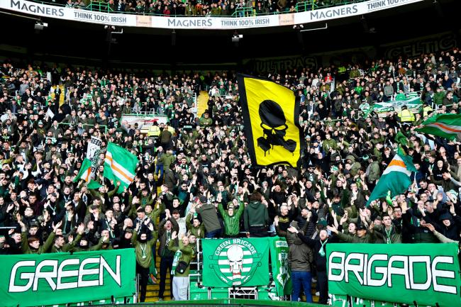 Green Brigade blast Celtic's 'unfit for purpose' boardroom with banner outside Parkhead