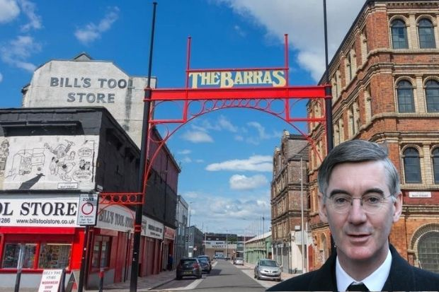 Aristocratic Tory MP Jacob Rees Mogg hopes to visit the Barras 'to pick up some tat'