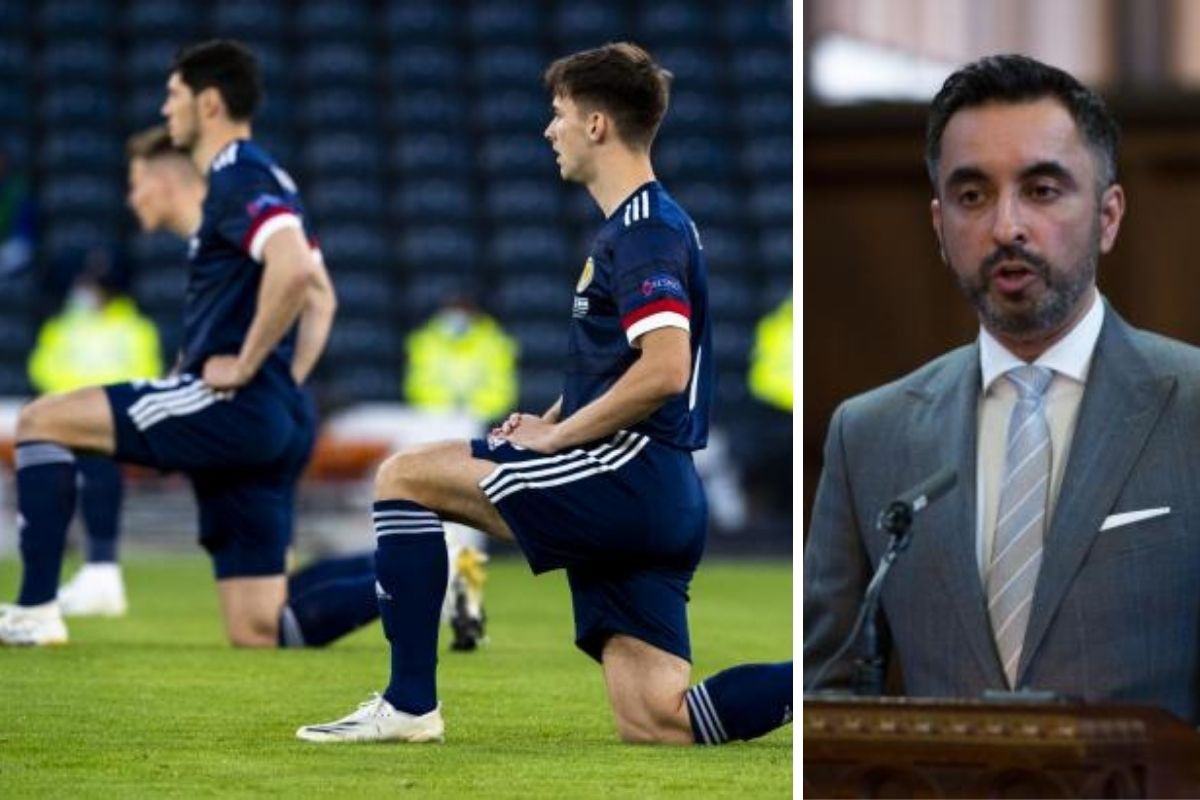 Glen Kamara's lawyer Aamer Anwar praises Scotland's decision to take a knee with England at Euro 2020