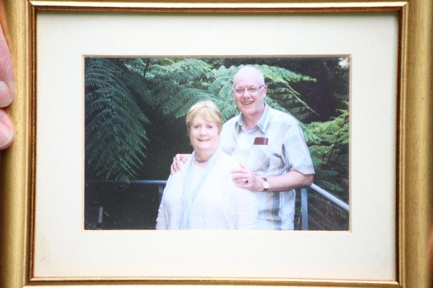 Glasgow Times: Kenneth and his wife Valerie, who passed away 11 years ago