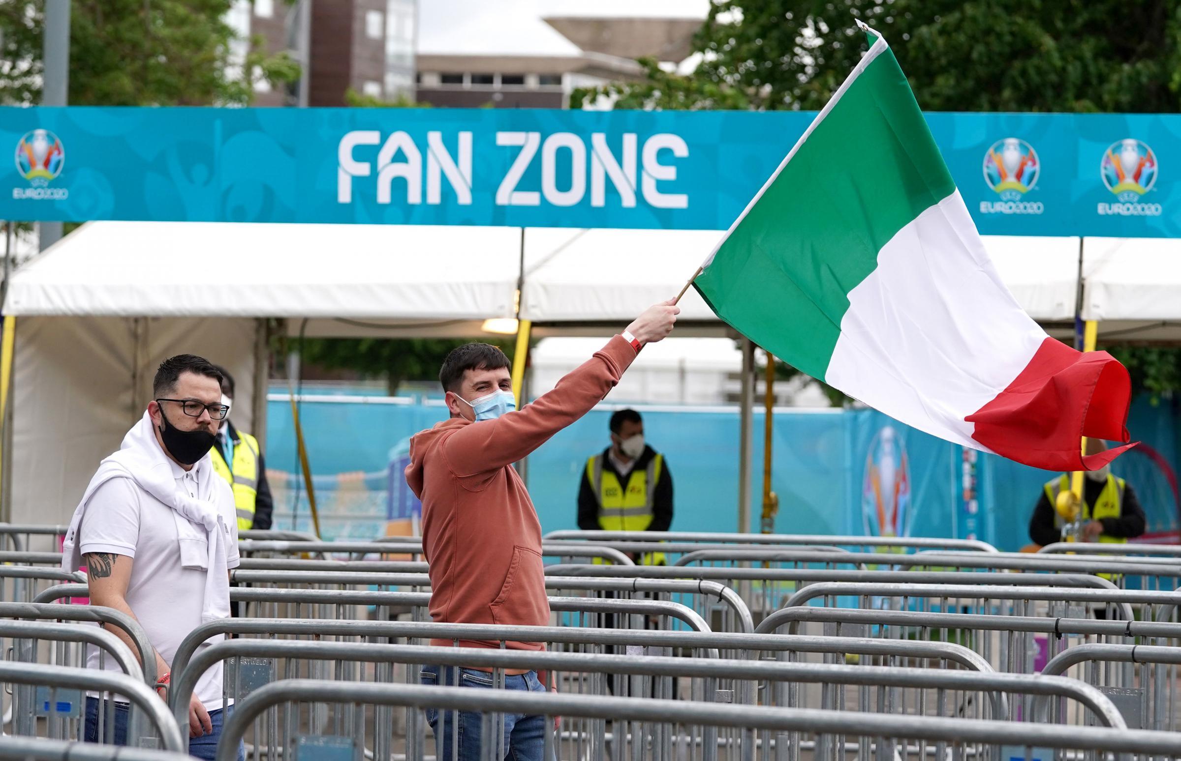 Scotland Euro 2020: Fans begin to arrive at Fan Zone