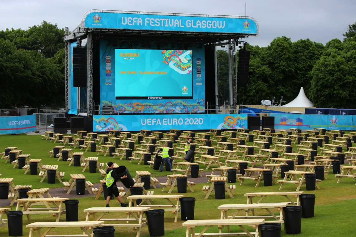 Euro 2020 fanzone: Attendees to be mailed covid test kits