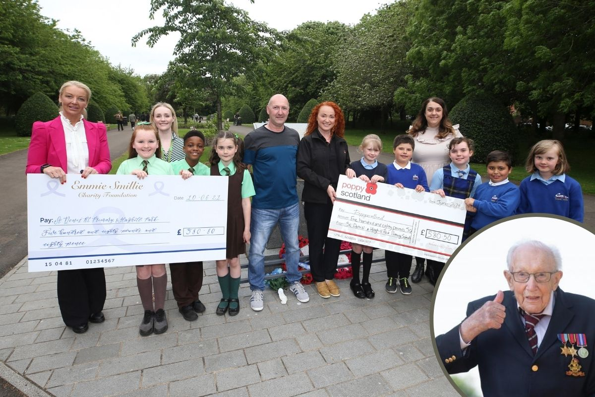 Glasgow schoolkids raise thousands in memory of Captain Tom Moore