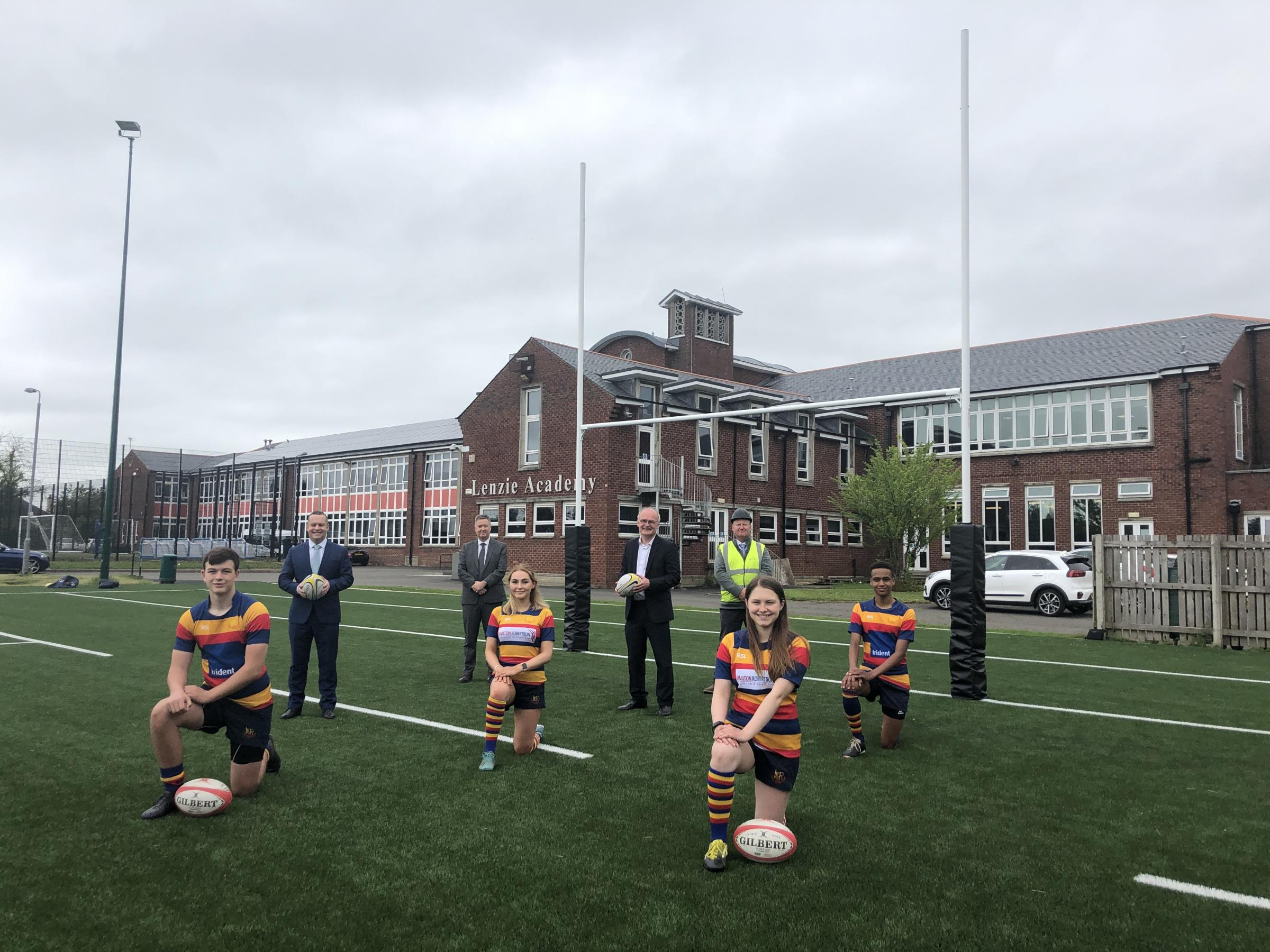 Lenzie Academy pupils benefit from new state-of-the-art rugby pitch