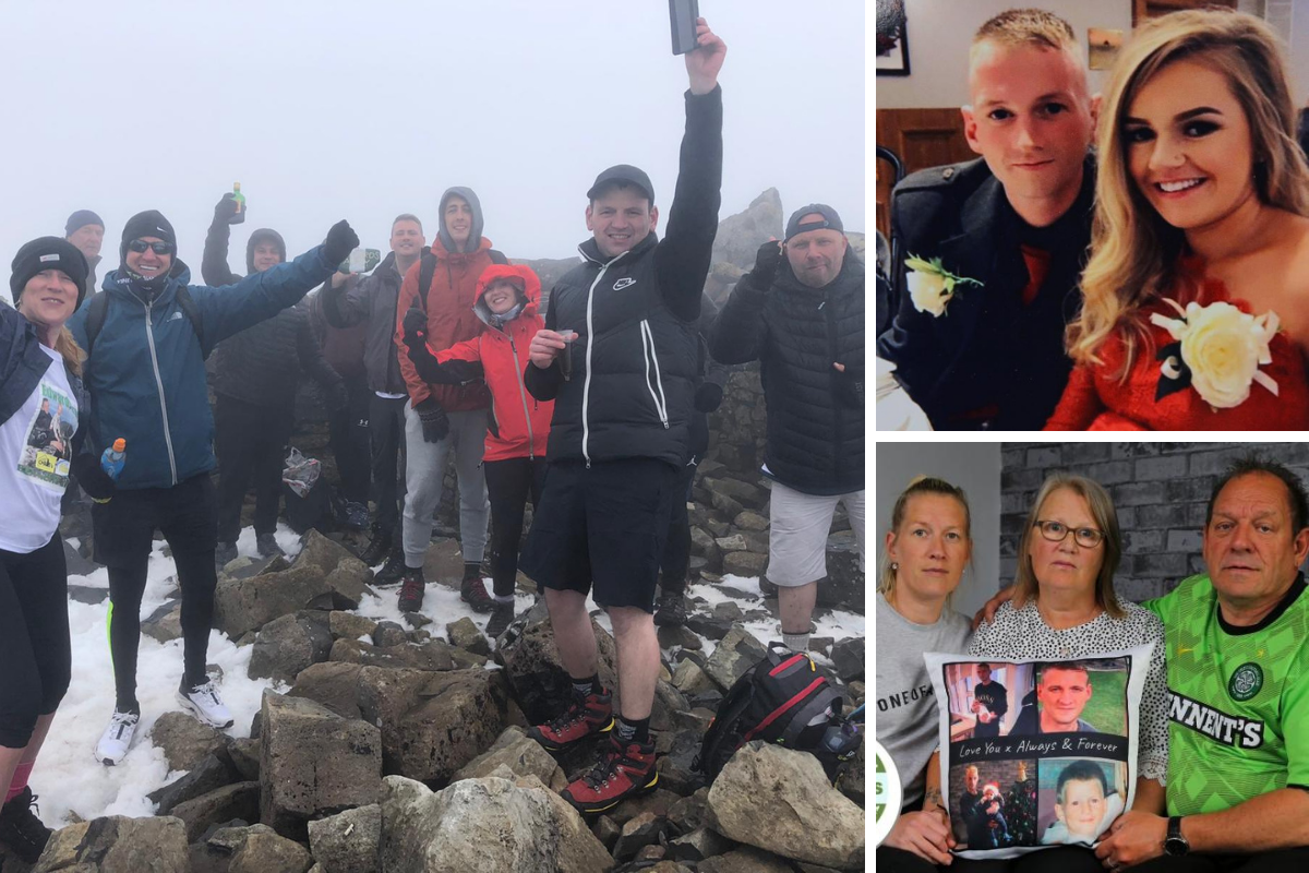 Family and friends of Pollok dad Edward McEwan climb Ben Nevis in his memory