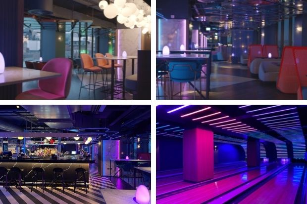 Inside VEGA - Glasgow's newest rooftop bar, restaurant and bowling alley