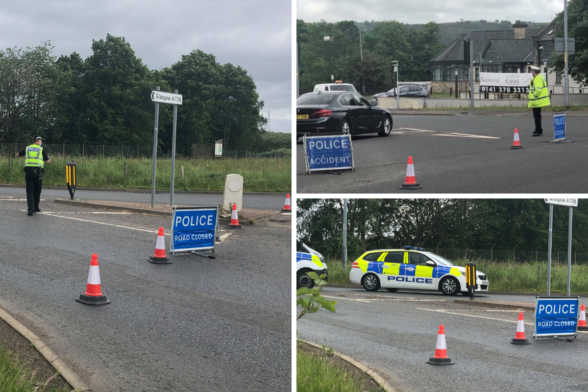 Glasgow Road road shut off by police amid ongoing incident