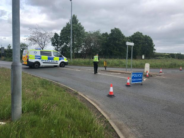 Glasgow Road: Police close road after crash involving pedestrians and two cars