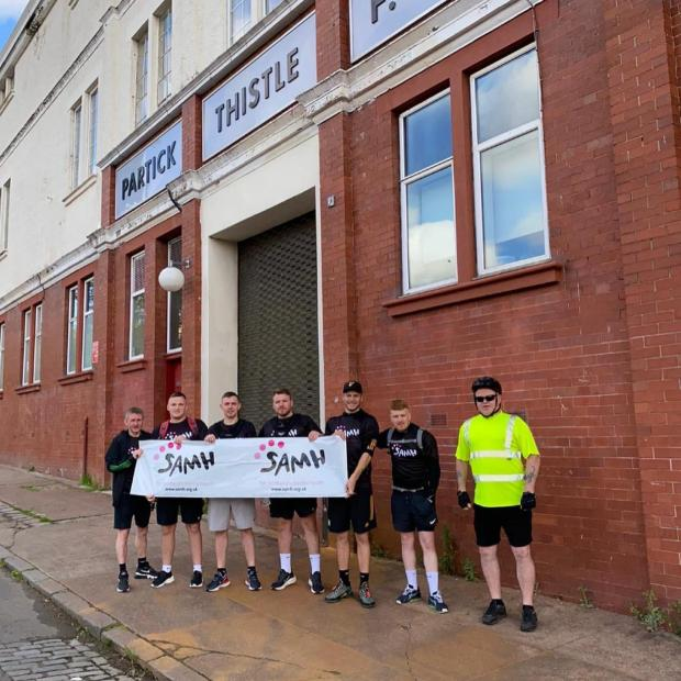 Glasgow Times: The group outside Firhill