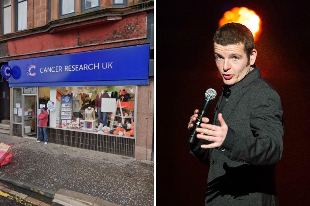 Kevin Bridges donates designer suits to West End charity shop