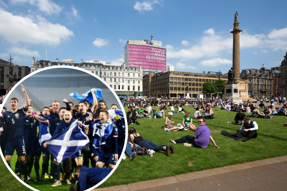 Glasgow set for dry weather with highs of 18 degrees for Scotland v England match day