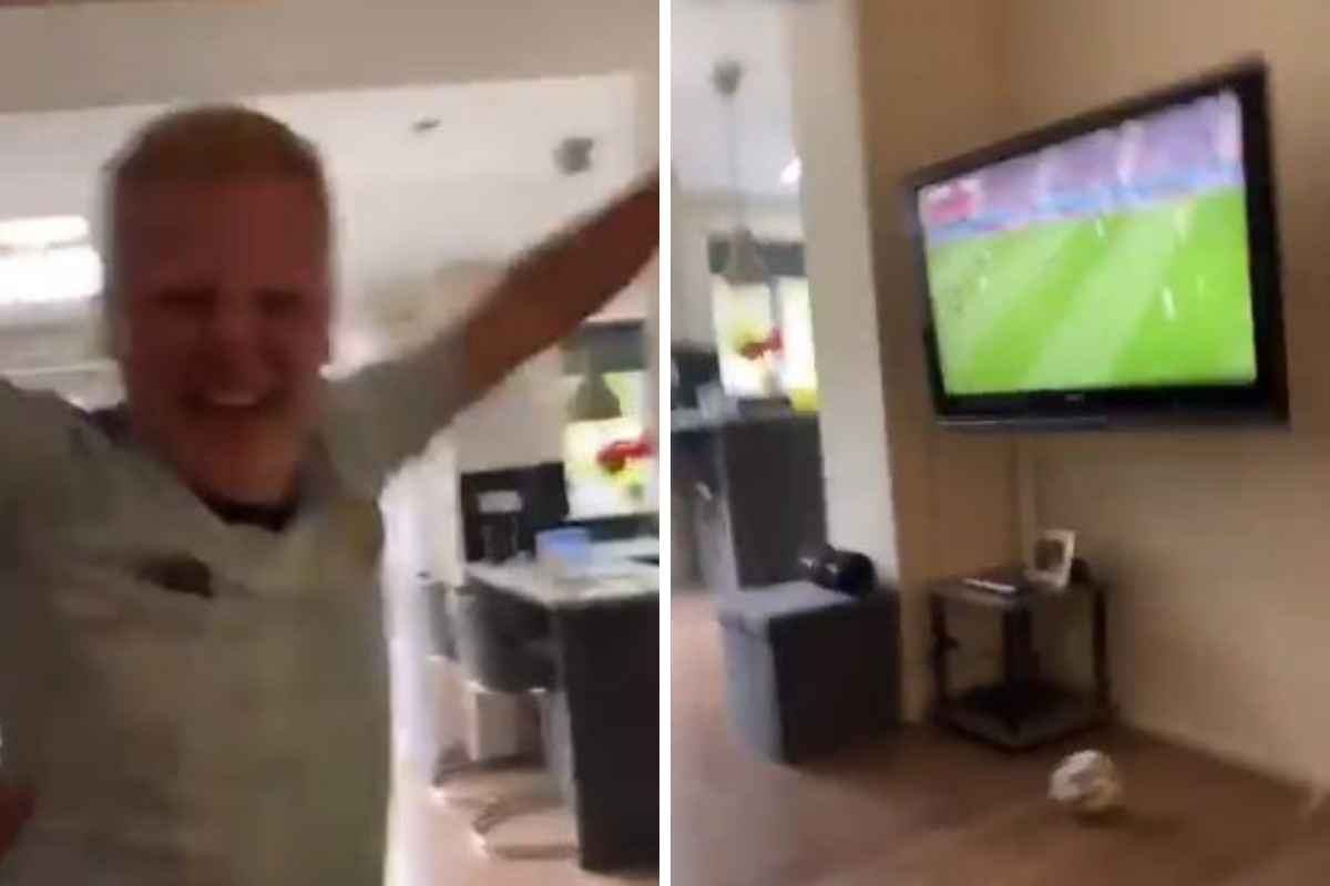 WATCH: Hilarious moment football fan pranked into thinking Scotland had scored
