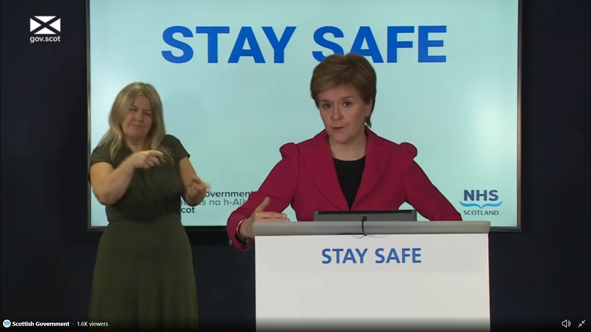 Nicola Sturgeon tells people to remember covid rules when watching Scotland play England