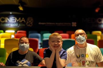 Glasgow patients at Royal Hospital for Children experience movie magic