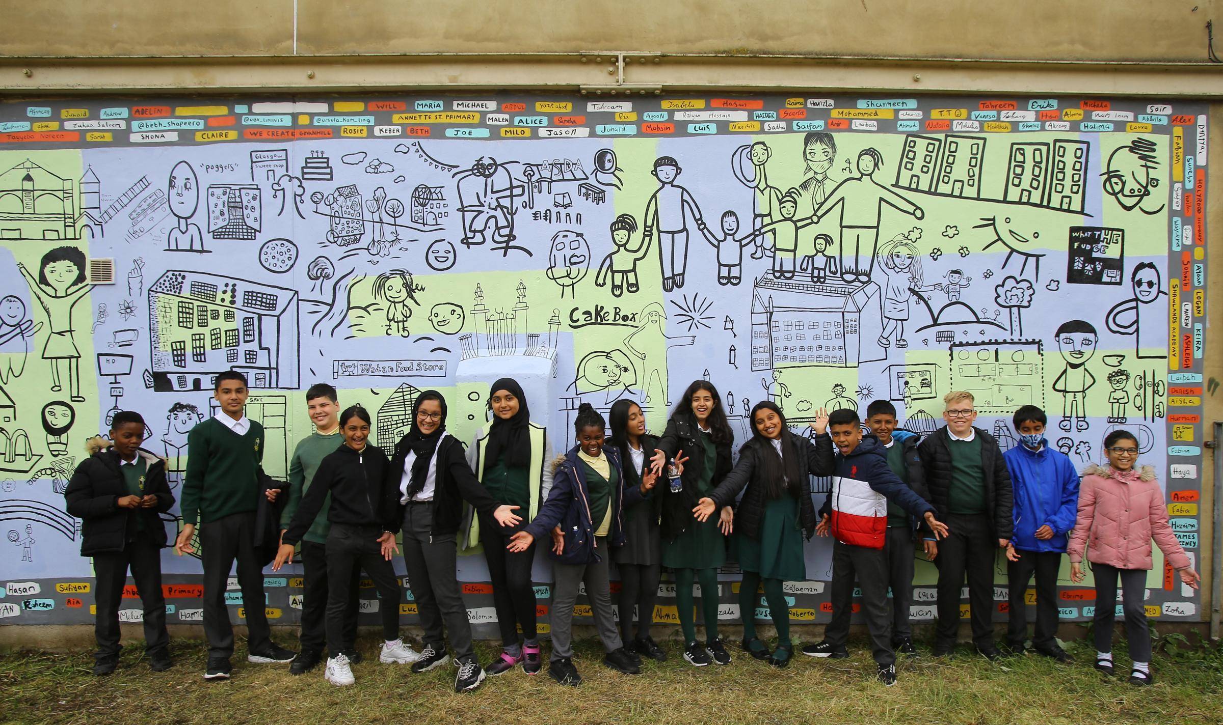 Glasgow mural is celebration of Govanhill's diversity