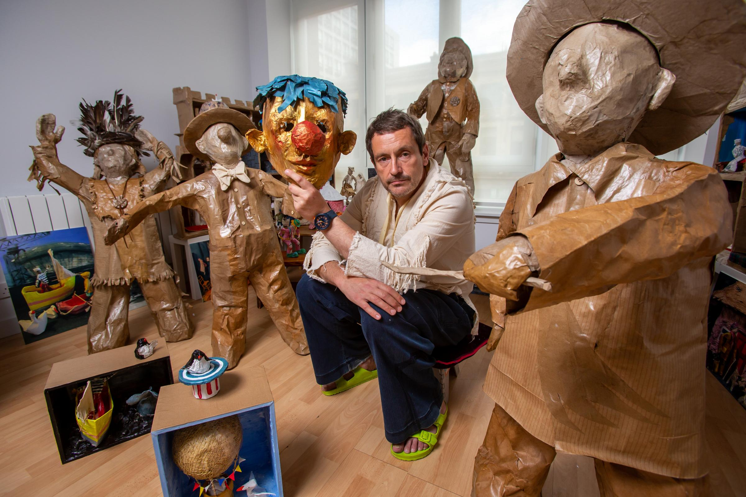 Glasgow artist Willie Sutherland says rehab led to solo show