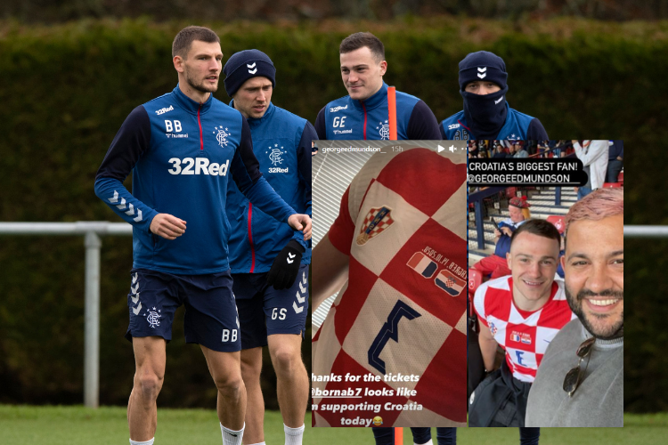 Rangers' George Edmundson supports Croatia in Scotland clash after teammate Borna Barisic sorted Euro 2020 tickets