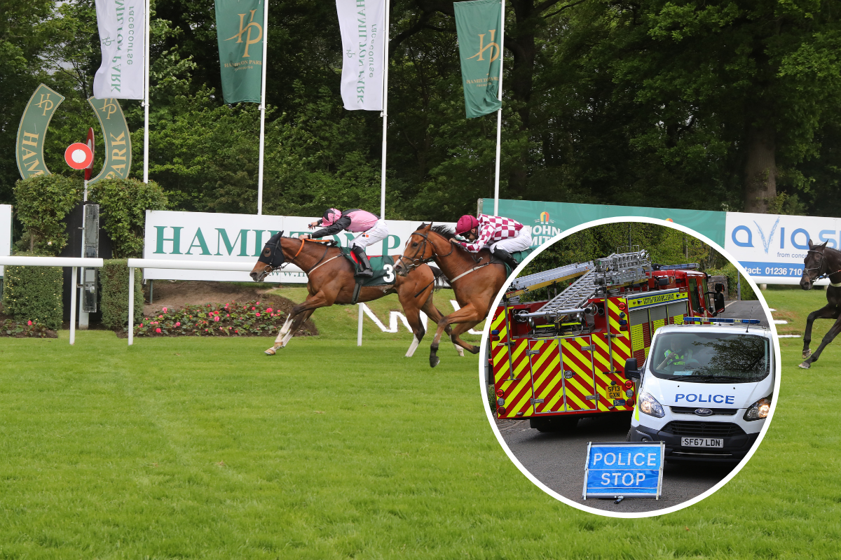 Hamilton Park Racecourse: Race called off after two men injured in fall