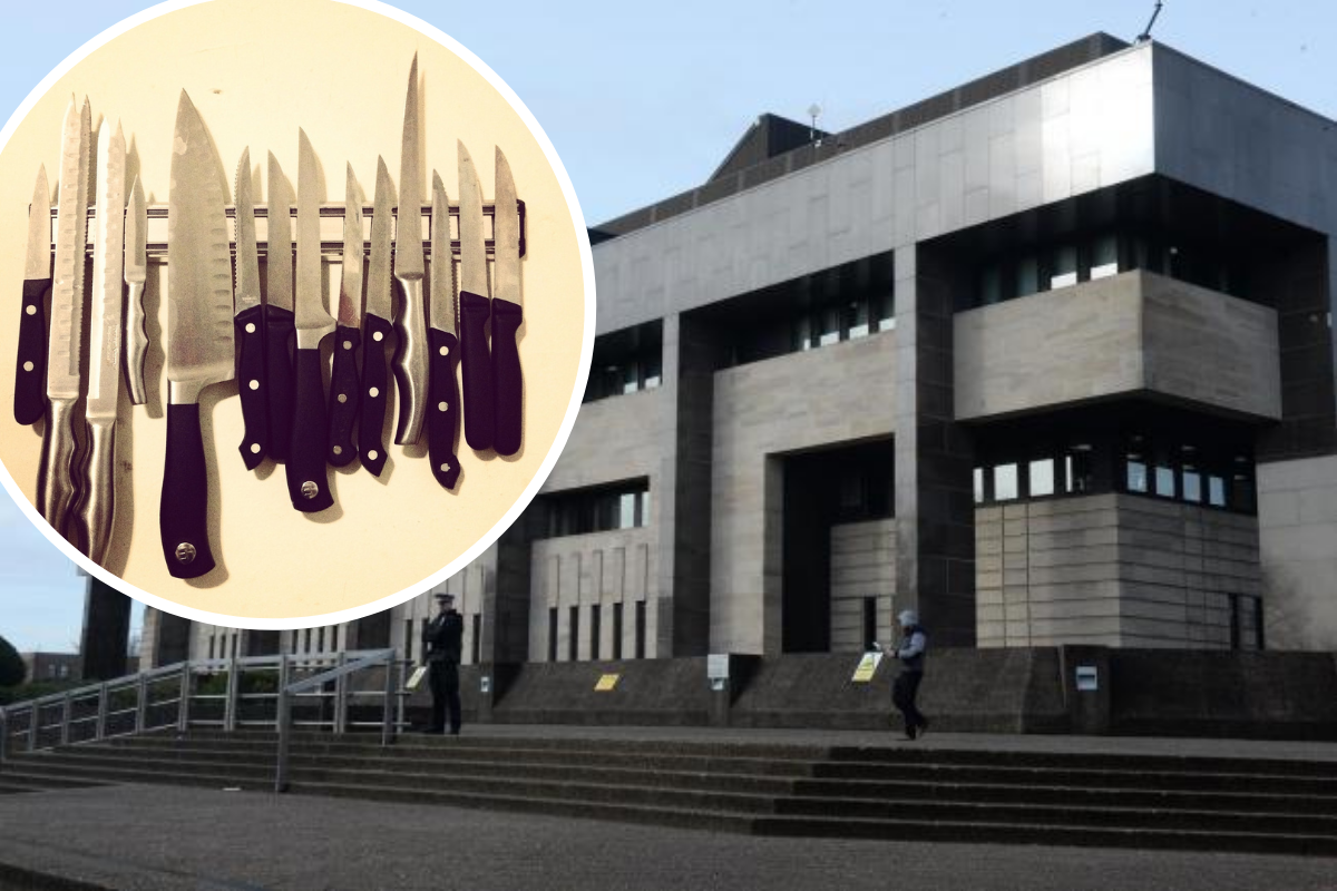 Glasgow woman turned up to neighbour's door with SEVEN knives