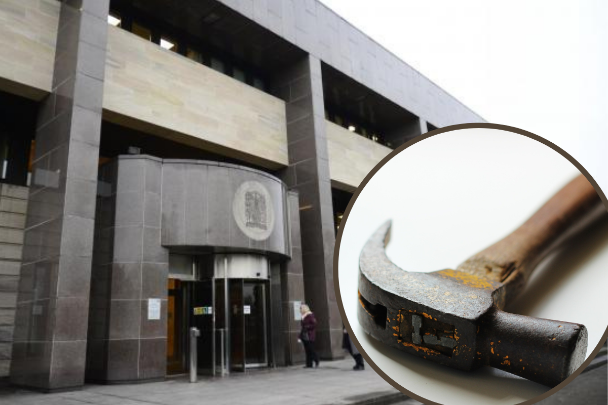 Glasgow mum avoids jail after turning up to school with hammer