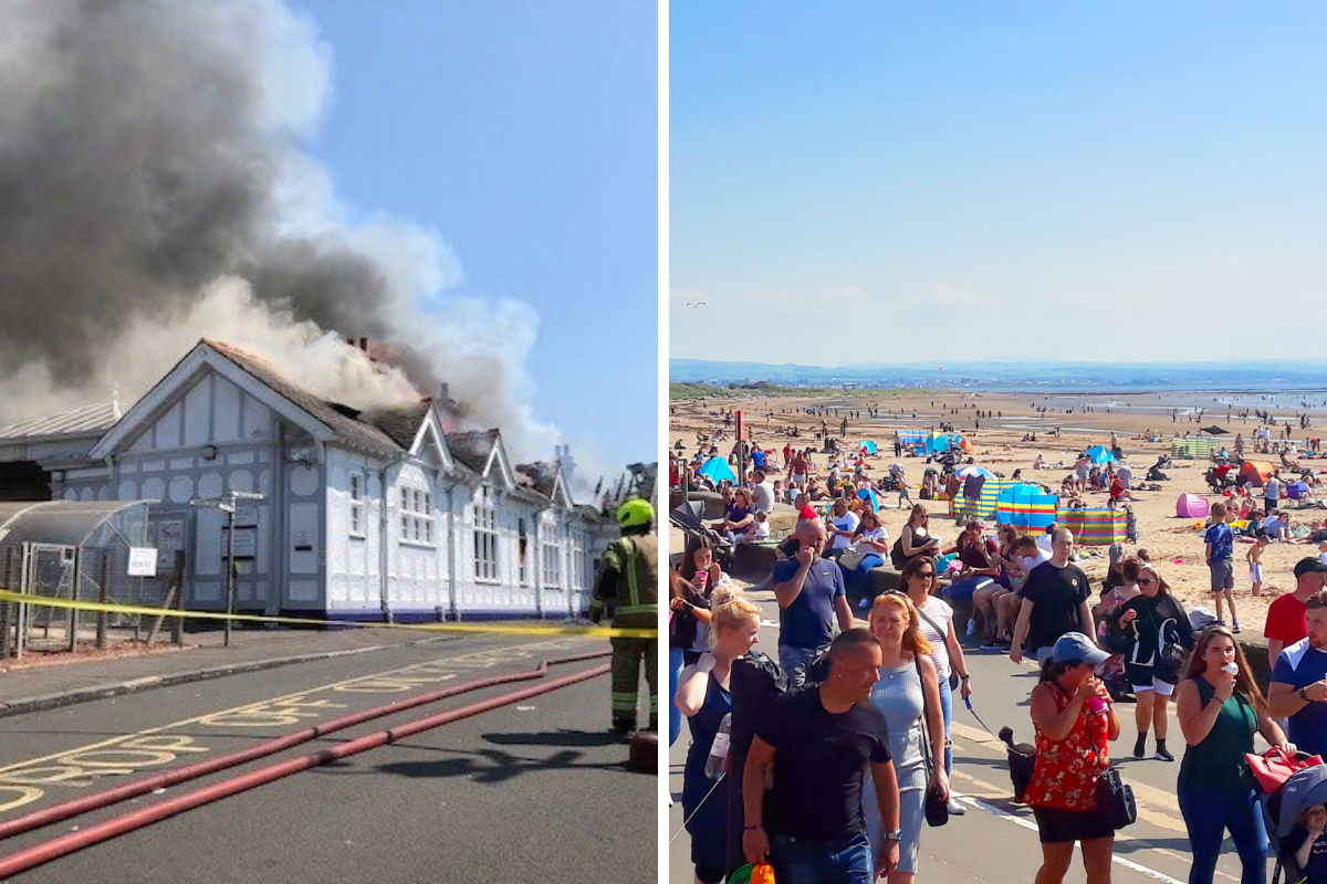 Troon trains from Glasgow back on after devastating fire