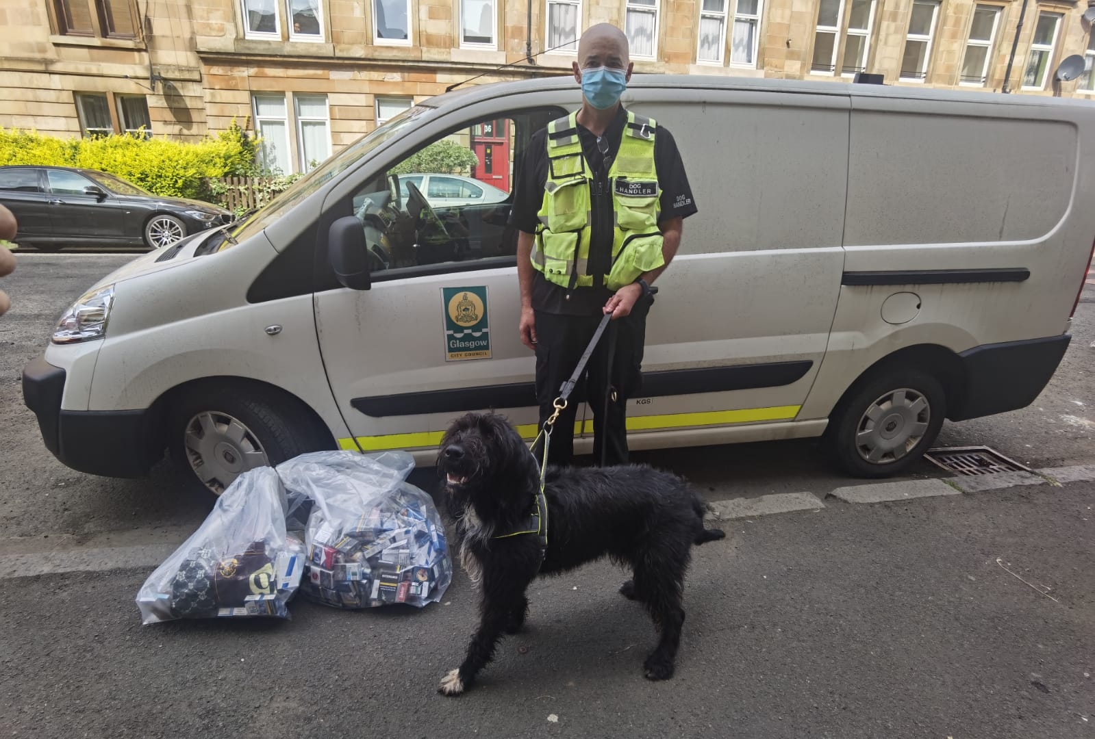 Govanhill illegal cigarettes raid sees Glasgow cops seize thousands