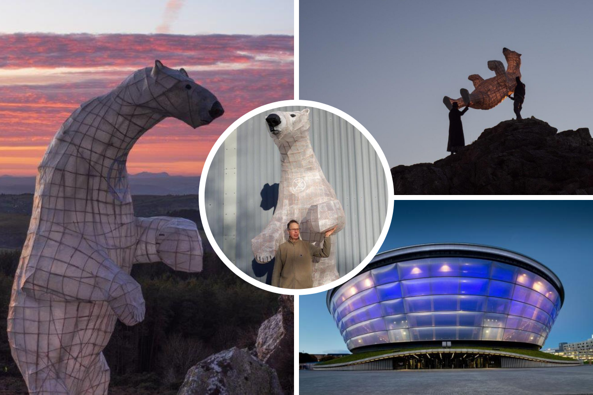 Artist to carry 10 foot polar bear sculpture from Shropshire to COP26 in Glasgow